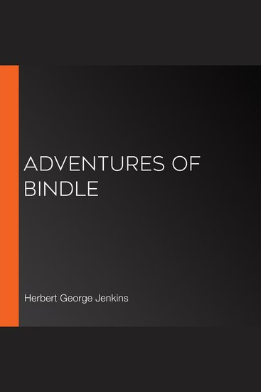 Adventures of Bindle - cover
