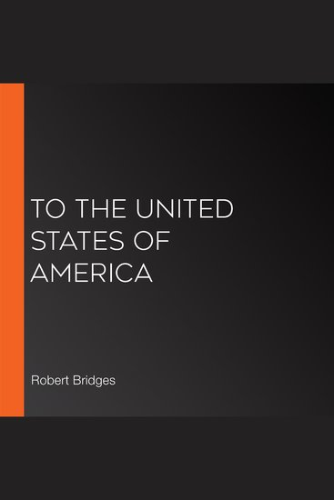To the United States of America - cover