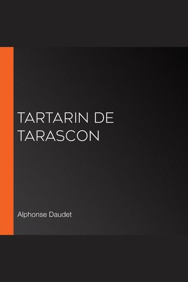 Tartarin de Tarascon - cover