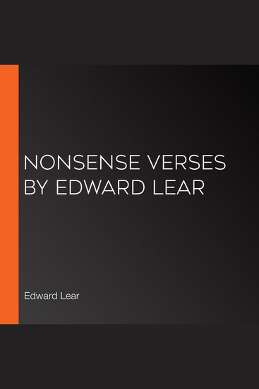 Nonsense Verses by Edward Lear - cover