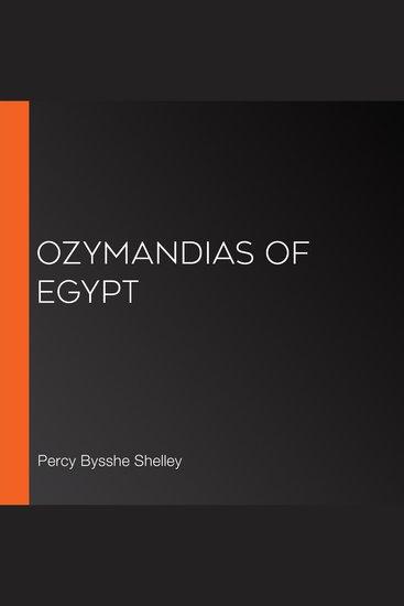 Ozymandias of Egypt - cover