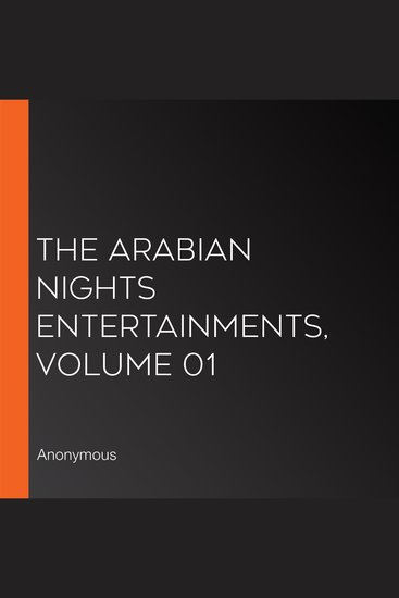 The Arabian Nights Entertainments Volume 01 - cover