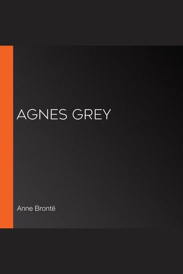 Agnes Grey - cover