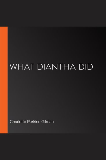 What Diantha Did - cover