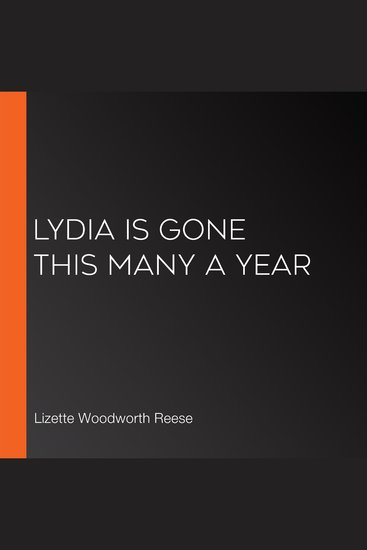 Lydia is gone this many a year - cover