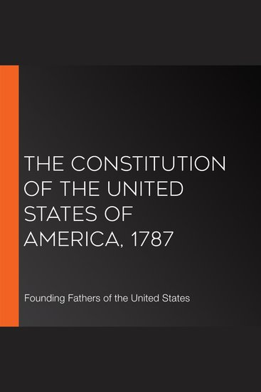 The Constitution of the United States of America 1787 - cover