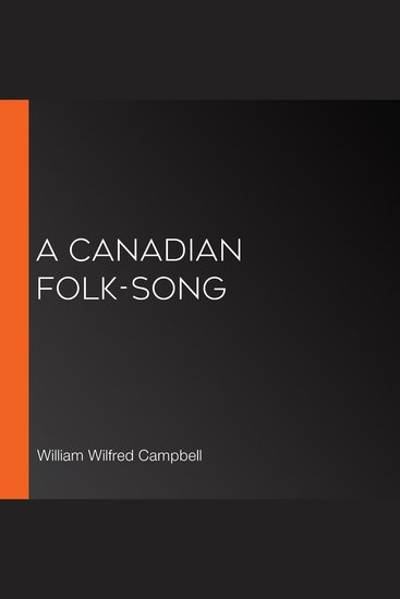 A Canadian Folk-Song - cover