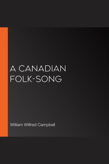 Canadian Folk-Song A - cover