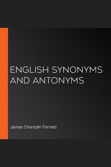 English Synonyms and Antonyms - cover