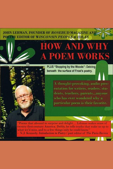 How and Why a Poem Works - A Thought-Provoking Audio Presentation - cover