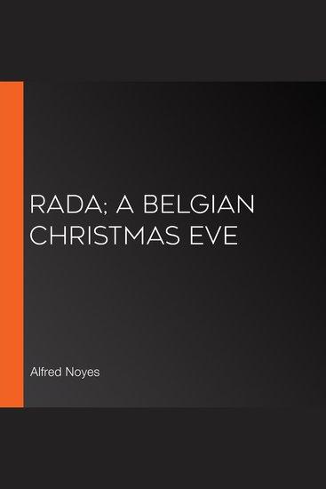 Rada; A Belgian Christmas Eve - cover