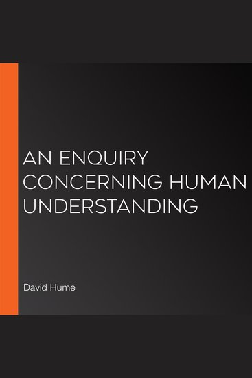 Enquiry Concerning Human Understanding An - cover