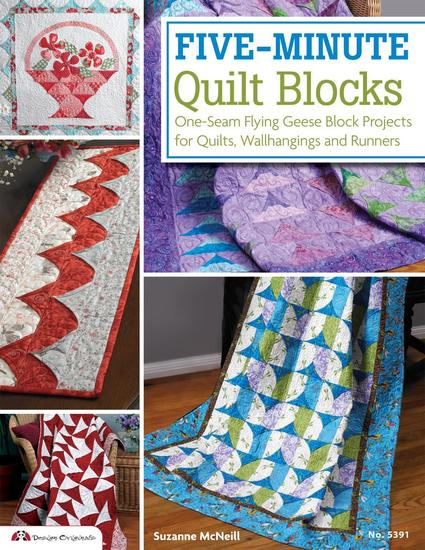 Five-Minute Quilt Blocks - One-Seam Flying Geese Block Projects for Quilts Wallhangings and Runners - cover