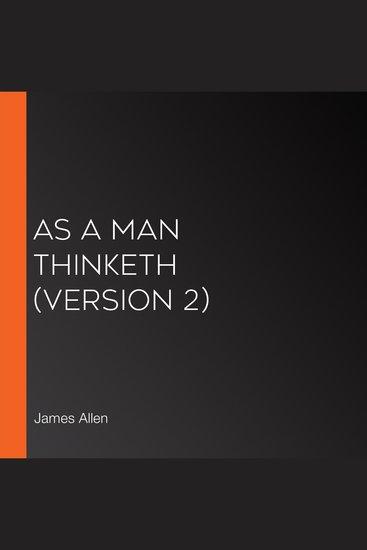 As a Man Thinketh (version 2) - cover