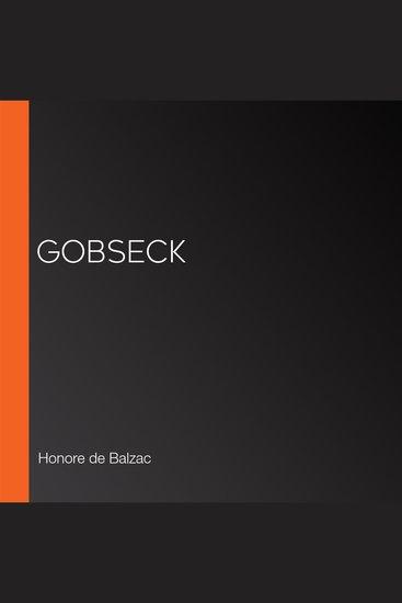 Gobseck - cover