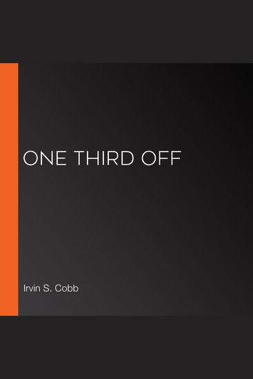 One Third Off - cover