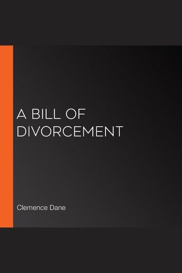 A Bill of Divorcement - cover