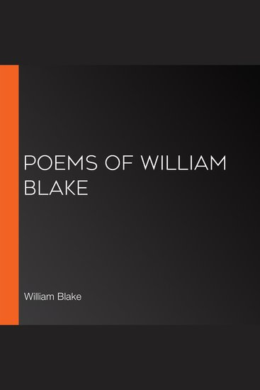 Poems of William Blake - cover