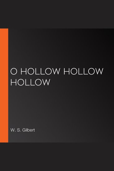 O Hollow Hollow Hollow - cover