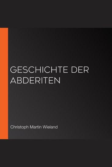 Geschichte der Abderiten - cover