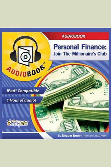Personal Finance - Join the Millionaire's Club - cover