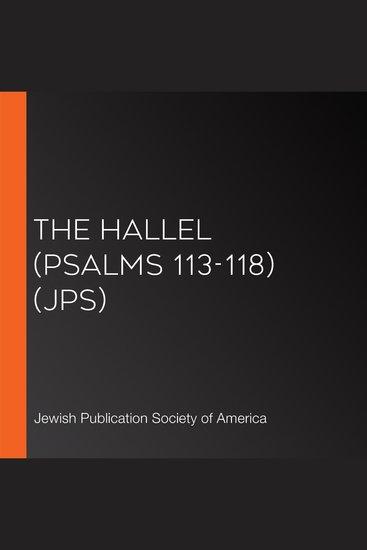 The Hallel (Psalms 113-118) (JPS) - cover