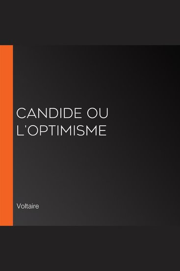 Candide ou L'optimisme - cover