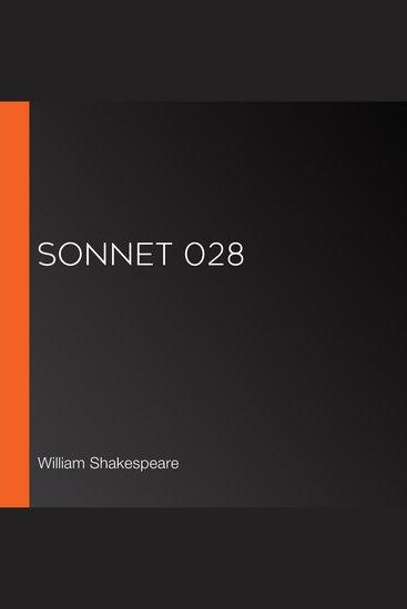 Sonnet 028 - cover