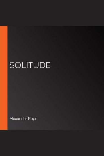 Solitude - cover
