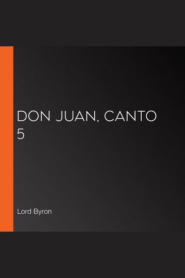 Don Juan Canto 5 - cover