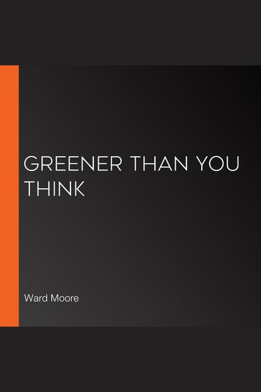Greener Than You Think - cover