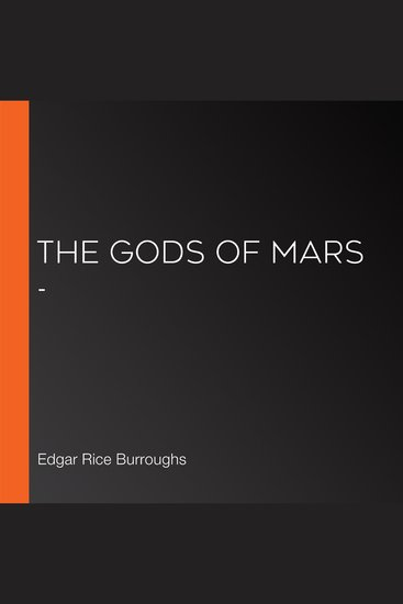 Gods of Mars - The (version 3) - cover