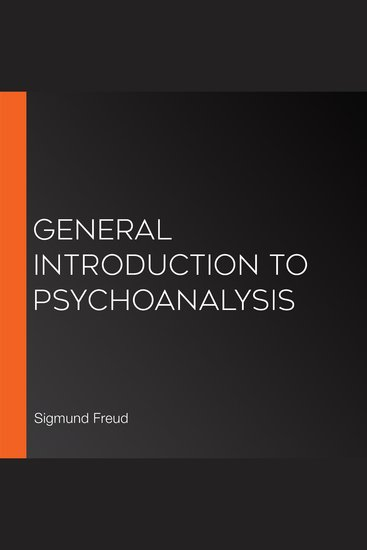 General Introduction to Psychoanalysis - cover