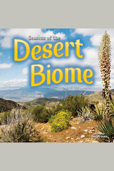 Seasons of the Desert Biome - cover