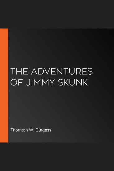 The Adventures of Jimmy Skunk - cover