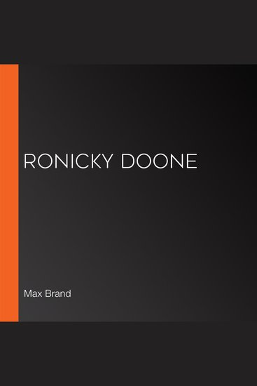 Ronicky Doone - cover