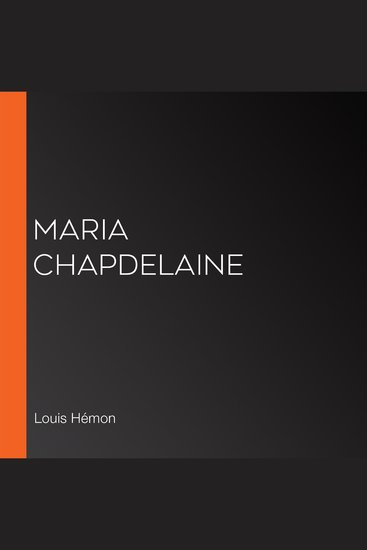 Maria Chapdelaine - cover