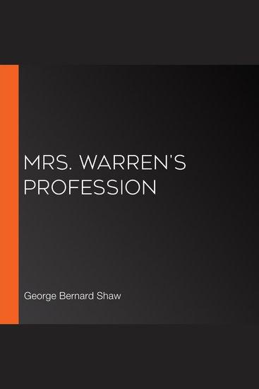 Mrs Warren's Profession - cover