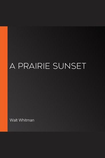 A Prairie Sunset - cover