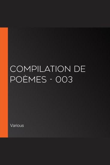 Compilation de poèmes - 003 - cover