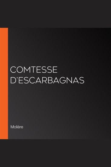 Comtesse d'Escarbagnas - cover