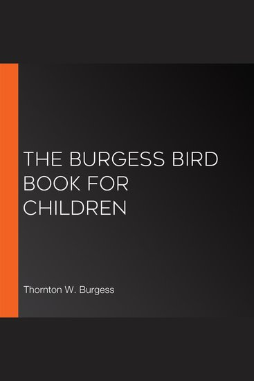 The Burgess Bird Book for Children - cover