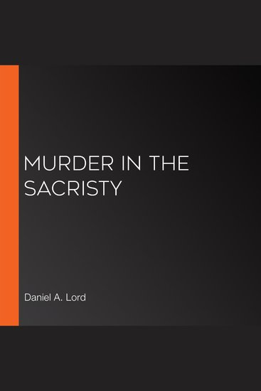 Murder in the Sacristy - cover