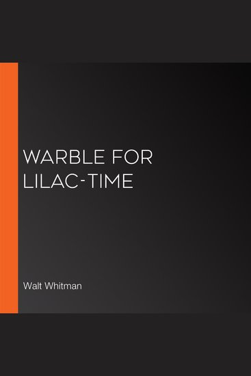 Warble for Lilac-Time - cover