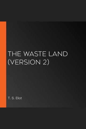 The Waste Land (version 2) - cover