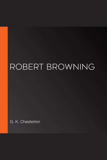 Robert Browning - cover
