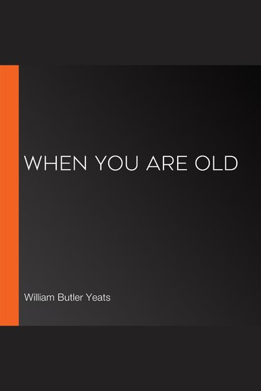 When You Are Old - cover