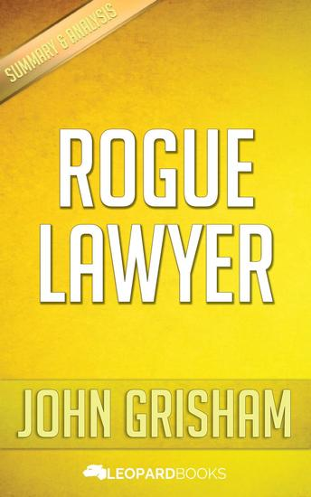 Rogue Lawyer by John Grisham - cover
