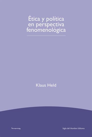 Etica y política en perspectiva fenomenológica - cover