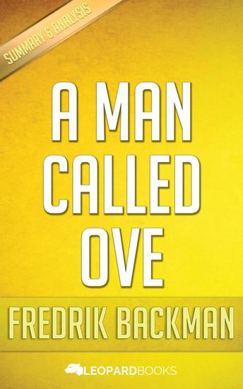 A Man Called Ove by Fredrik Backman - cover